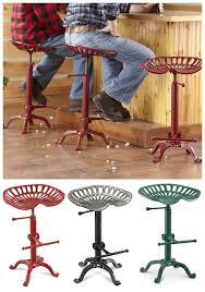 Tractor Seat Bar Stools For Sale Castlecreek Farmhouse Tractor Seat Adjustable Bar Stool 250 Lb