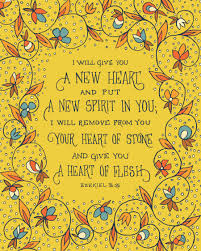 a heart of thanksgiving scripture i will give you a new heart ezekiel bible print small