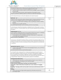 secondary lesson plan template eliolera com