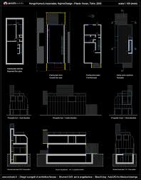 plastic house k kuma autocad dwg
