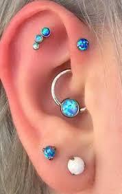 cercei piercing dazzle opal ear piercing in blue cercei cartilaj studs și