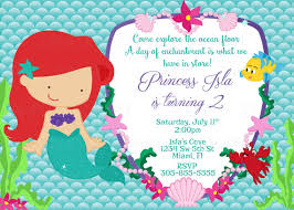 printable princess ariel mermaid birthday party