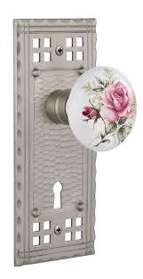 Dummy Door Knobs For French Doors - white rose porcelain single dummy door knob with craftsman plate