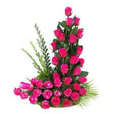 flower gift buy basket of fresh pink roses flower gift 282 online best