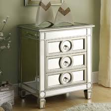 Nightstands With Mirrored Drawers Mirrored Furniture You U0027ll Love