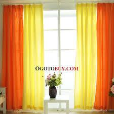 Bright Colored Curtains Alluring Bright Colored Curtains And Curtains Bright Orange