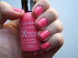 massachusetts mask sally hansen xtreme wear nail color in coral