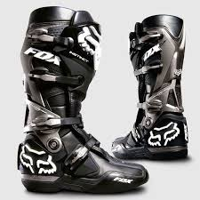 dirt bike motorcycle boots fox instinct motocross boots black theme modern rugged products