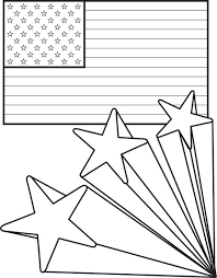 us flag coloring pages free printable american flag with stars 4th of july coloring page