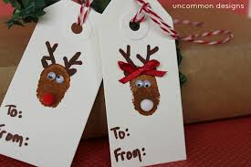 diy mr and mrs reindeer thumbprint tags design dazzle