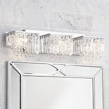 Chrome Bathroom Vanity by Possini Euro Design Crystal Strand 25 3 4