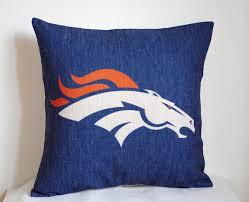 NFL Denver Broncos pillow Denver Broncos decor by DecorPillowStore