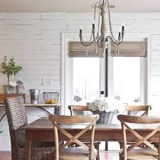 Farmhouse Dining Room Lighting by After A Wallpaper Disaster We Went To Plan B Shiplap Accent Wall