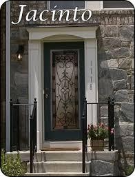 Fiberglass Exterior Doors With Glass Wrought Iron Glass Insert For Fiberglass Front Entry Doors Front