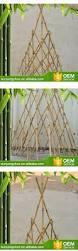 natural eco friendly decorative triangle bamboo trellis arbor