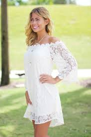cream lace off shoulder short dress online boutiques u2013 saved by