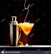 red martini drink cocktail vodka bull containing vodka and red bull stock photo
