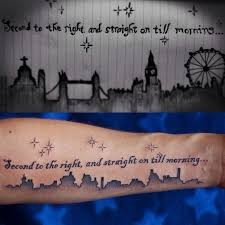 forearm quotes inspired by pan second to the right
