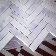 kitchen backsplash 1x4 oriental white marble herringbone house