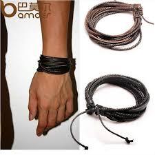 man black leather bracelet images Online cheap hot leather bracelets bangles for men and women jpg