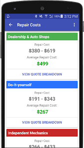 Estimate Work For Car by Auto Repair Estimate Car Quote Android Apps On Play