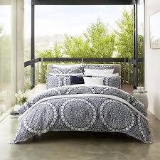 ezra navy quilt cover set by private collection