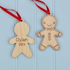 gingerbread wooden ornament personalized boy or graphic spaces