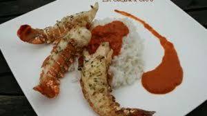 cuisine langouste plancha queues de langoustes grillées recette par la cuisine caro
