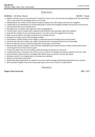 Ui Ux Resume Ux Writer Resume Sample Velvet Jobs