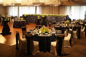black and white chair covers chair cover rentals wedding and event chair covers