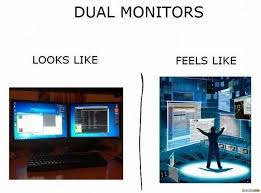 Meme Monitor - dual screen looks like vs feels like rebrn com