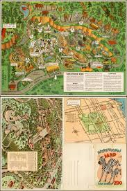 Map San Diego Recreational Map San Diego Zoo Barry Lawrence Ruderman Antique