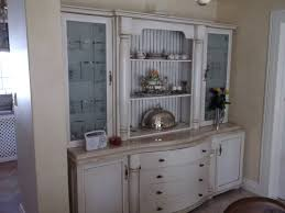 kitchen style white distressed cabinet glas cabinet doors open