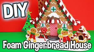 diy kids craft foam gingerbread house kit miniature dollhouse cute