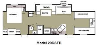 Rv 2 Bedroom Floor Plans New 2012 Forest River Rv Cherokee Grey Wolf 29dsfb Travel Trailer