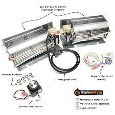 amazon com 600 1 fireplace blower fan kit for kozy heat