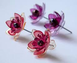 plastic earrings upcycled plastic bottle flower stud earrings tutorial the
