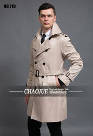 mens medium long black trench coat 2016 spring autumn fashion