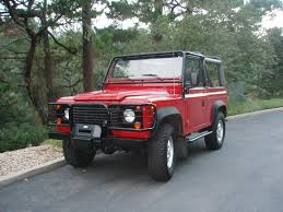land rover red 1995 land rover defender 90 nas portofino red soft top 34 100