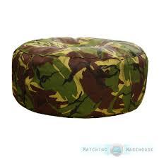 army camouflage circle bean bag cushion camo military boys camping