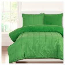 crayola playful plush green pleated comforter set full queen 3pc