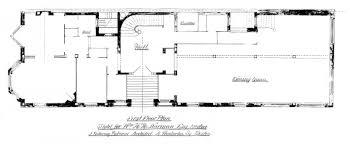 berk 282 u2013 first floor plan 1894 bw back bay houses