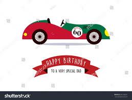 happy birthday greeting card daddy vintage stock vector 501238201