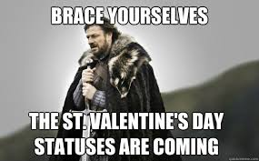 St Valentine Meme - brace yourselves the st valentine s day statuses are coming ned