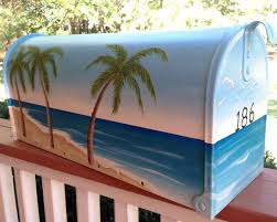 http www cottageandcabana com hand painted mailboxes post