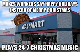 makes workers say happy holidays instead of merry plays