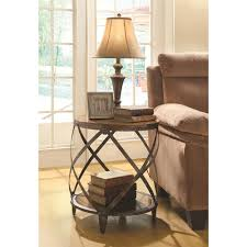 Accent Cabinets by Accent Cabinets Contemporary Metal Accent Table With Drum Shape