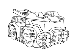 police bot coloring pages for kids printable free new rescue bots
