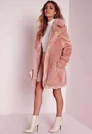 longline faux fur coat pink coats and jackets faux fur coats