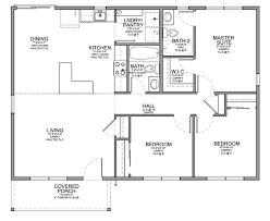 House Plan Design Software Mac Floor Plan For A Small House 1150 Sf With 3 Bedrooms And 2